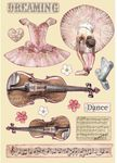 Violin & Dance Wooden Shapes - Passion - Stamperia