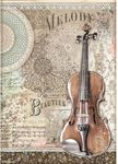Violin Rice Paper - Passion - Stamperia - PRE ORDER