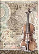 Violin Rice Paper - Passion - Stamperia