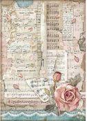 Roses & Music Rice Paper - Passion - Stamperia
