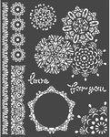Laces Stencil - Passion - Stamperia