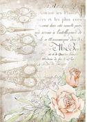 Scissors & Roses Rice Paper - Romantic Threads - Stamperia