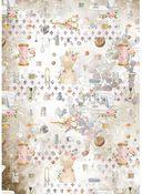 Embellishment Rice Paper - Romantic Threads - Stamperia