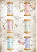 Needle & Thread Rice Paper - Romantic Threads - Stamperia