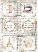 Mini Cards Rice Paper - Romantic Threads - Stamperia