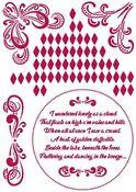 Corners Stencil - Romantic Threads - Stamperia