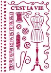Couture Stencil - Romantic Threads - Stamperia