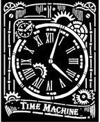 Clock Stencil - Voyages Fantastiques - Stamperia