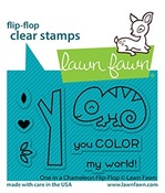 One In A Chameleon Flip-Flop Stamps - Lawn Fawn