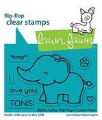 Elphie Selfie Flip-Flop Stamps - Lawn Fawn