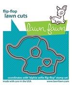 Elphie Selfie Flip-Flop Lawn Cuts - Lawn Fawn
