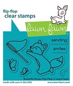 Butterfly Kisses Flip-Flop Stamps - Lawn Fawn