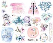Watercolor Floral Chipboard Stickers - Prima