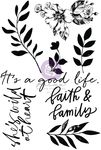 Watercolor Floral Clear Stamp - Prima