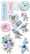 Watercolor Floral Puffy Stickers - Prima