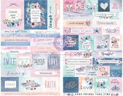 Watercolor Floral Stickers - Prima