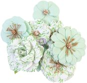 Minty Water Flowers - Watercolor Floral - Prima