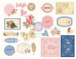 Frayed Denim Chipboard Stickers - Julie Nutting - Prima