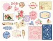 Frayed Denim Chipboard Stickers - Julie Nutting - Prima