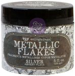 Silver - Art Ingredients Metallic Flakes - Finnabair - Prima