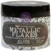 Silver - Art Ingredients Metallic Flakes - Finnabair - Prima