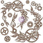 Steampunk Wreath Chipboard - Finnabair - Prima