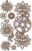 Machine Floral Decors Chipboard - Finnabair - Prima