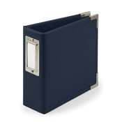 Navy 4x4 Classic Leather Album - We R Memory Keepers - PRE ORDER
