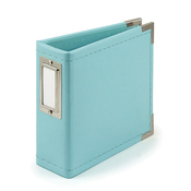 Aqua 4x4 Classic Leather Album - We R Memory Keepers - PRE ORDER
