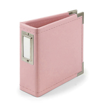 Pretty Pink 4x4 Classic Leather Album - We R Memory Keepers - PRE ORDER