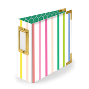 Striped 4x4 Paper Wrapped Album - We R Memory Keepers - PRE ORDER