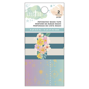 Matte Gold Foil Perforated Tab Washi Tape - Draw Near - Creative Devotion - American Crafts - PRE OR