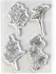 Flowy Florals Clear Stamps - Elizabeth Craft Designs