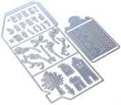 Winter Home Pocket Metal Die - Elizabeth Craft Designs