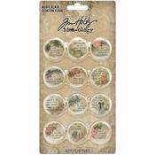 Idea-Ology Quote Flair Buttons - Tim Holtz