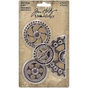 Antique Nickel Idea-Ology Metal Industrial Gears - Tim Holtz
