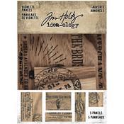 Adverts Idea-Ology Wooden Vignette Panels - Tim Holtz
