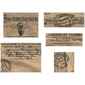 Adverts Idea-Ology Wooden Vignette Panels - Tim Holtz - PRE ORDER