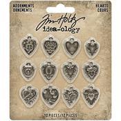 Heart Idea-Ology Metal Adornments - Tim Holtz