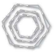 Stylish Hexagon Trio Dies - Memory Box
