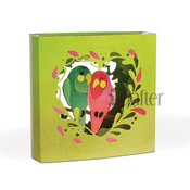 Love Birds Tunnel Card Dies - i-Crafter