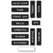 Big & Little Reverse Words Clear Stamps - Memory Box - PRE ORDER