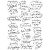 Joyful Moments Clear Stamps - Memory Box - PRE ORDER