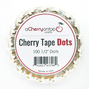 1/2 Inch Cherry Tape Dots - ACOT Double-Sided Adhesive Tape