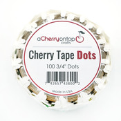 3/4 Inch Cherry Tape Dots - ACOT Double-Sided Adhesive Tape