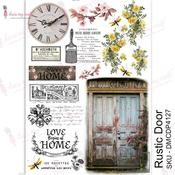 Rustic Door Transfer Me A4 Sheet - Dress My Craft - PRE ORDER