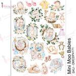 Mini Moo Babies Transfer Me A4 Sheet - Dress My Craft