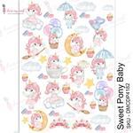 Sweet Pony Baby Transfer Me A4 Sheet - Dress My Craft