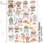 Cute Fur Babies Transfer Me A4 Sheet - Dress My Craft
