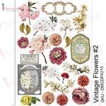 Vintage Flowers #2 Transfer Me A4 Sheet - Dress My Craft